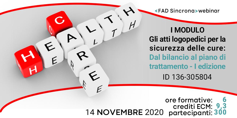 Course Image Gli atti logopedici per la sicurezza delle cure: dal bilancio al piano di trattamento ID 305804
